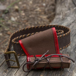 LARP small holder with belt, brown-red