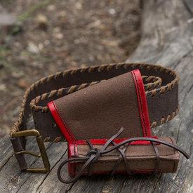Epic Armoury LARP liten hållare med bälte, brun-röd