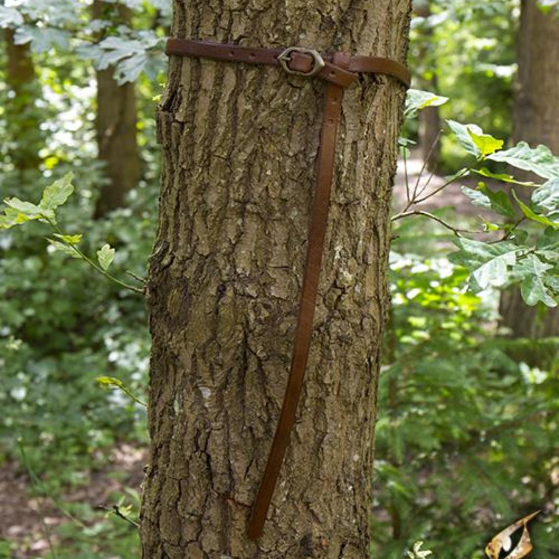 Epic Armoury Cinturón renacentista de Ambrosio, marrón.