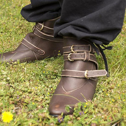 Botines medievales Godfrey, marrón.