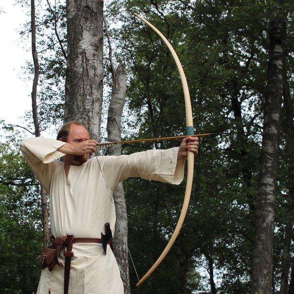 "Marksman bow re-enactment / LARP, 58"" (147 cm) light brown, 25 lbs"