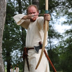"Marksman bow re-enactment / LARP, 58"" (147 cm) light brown, 25 lbs"