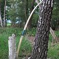 """Strzelec łuk 70"""" (178 cm), jasnobrązowy, 40 funtów"""