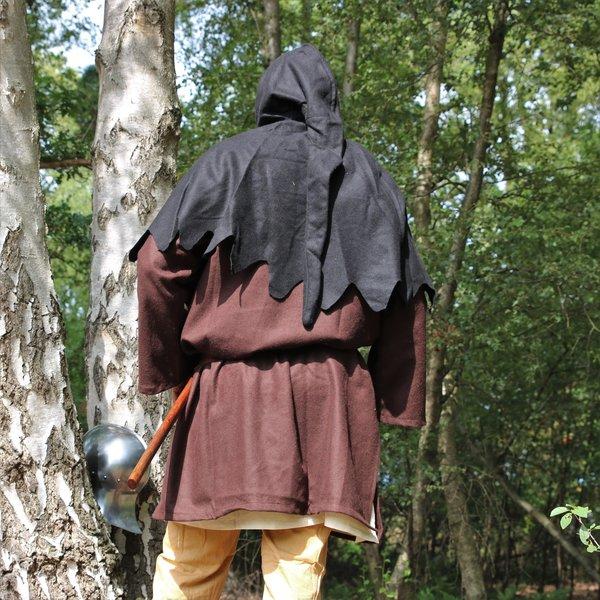 Capucha de lana, negro