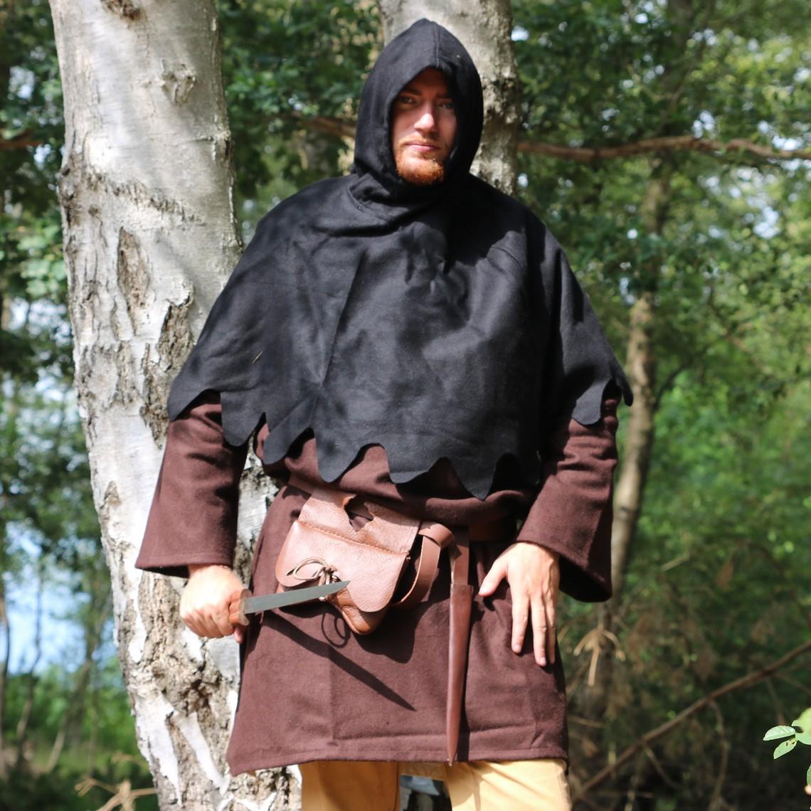 Leonardo Carbone Capucha de lana, negro