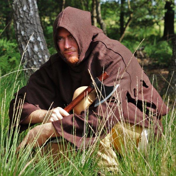 Capucha de lana, marrón