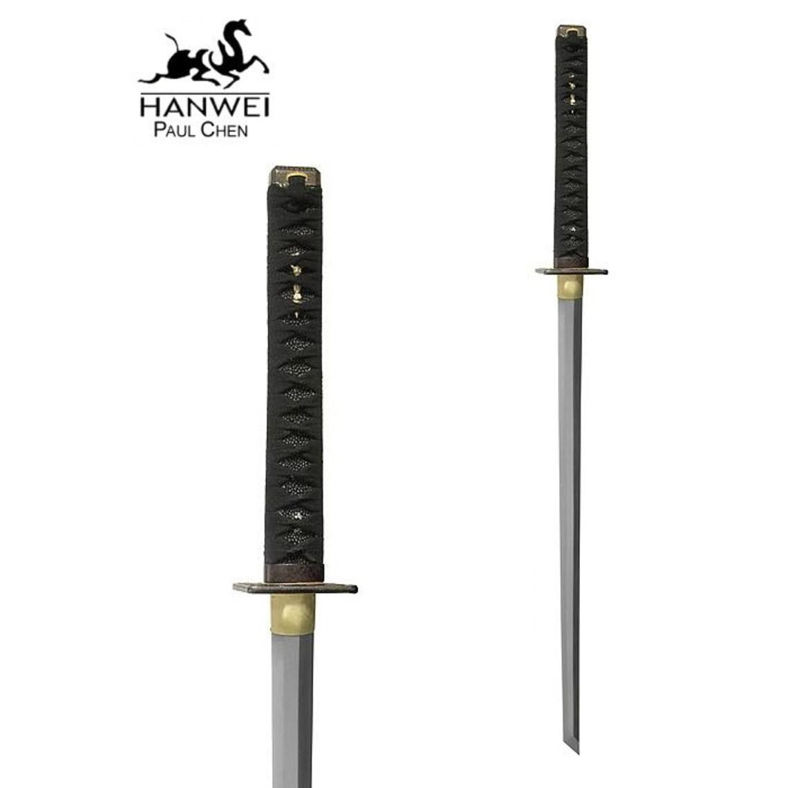 Hanwei Battle-ready Ninja katana met witte Samé