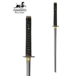 Battle-ready Ninja Katana mit weißer Samé (stumpf 3 mm)