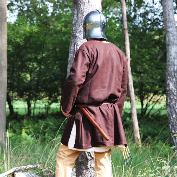 Leonardo Carbone Uldne tunika Folcart, brun