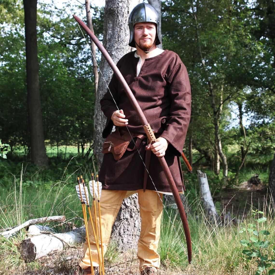 Leonardo Carbone Wollen tuniek Folcart, bruin