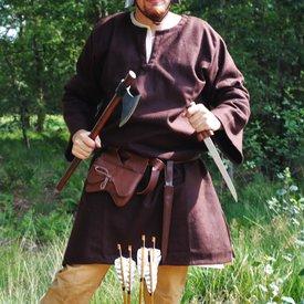 Tunica de lana Folcart, marrone