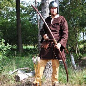 """Strzelec łuk rekonstrukcja / larp 58"""" (147 cm), ciemnobrązowy, 25 funtów"""