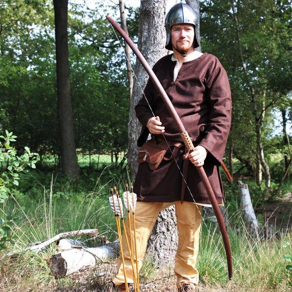 """Skytte bue nyopførelse / larp, 58"""" (147 cm) mørkebrun, 25 lbs"""