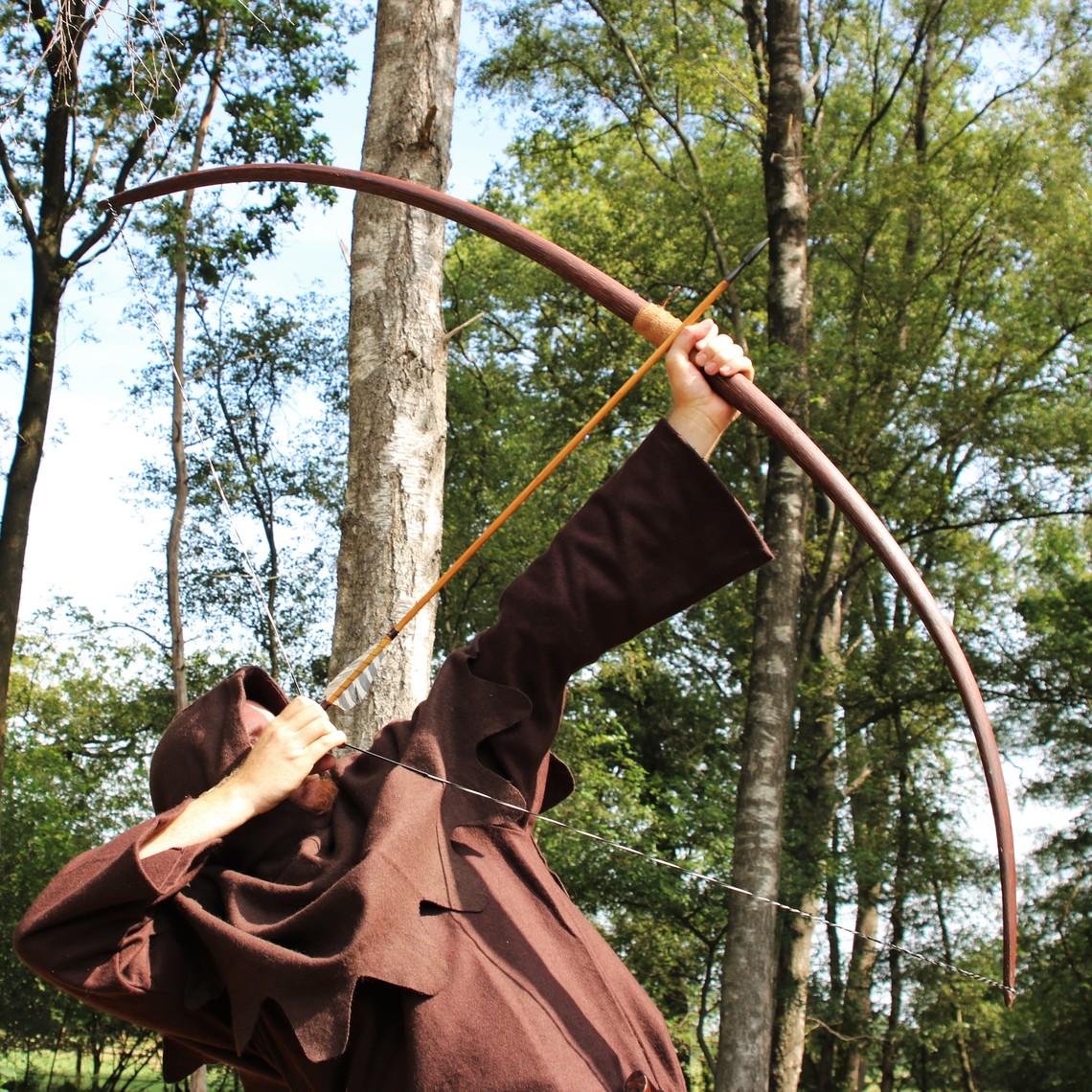 "Marksman boog re-enactment / LARP, 50"" (127 cm), 25 lbs, donkerbruin"
