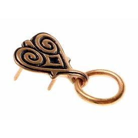 Hjerteformet Viking bælte montering med ring