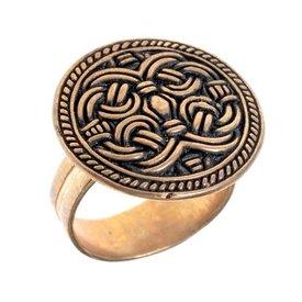 Birka Viking pierścień styl Borre