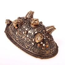 Viking mask amulet Gotland, silvered