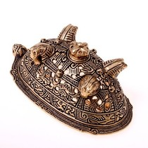 Viking skæg perle med ulv sølv