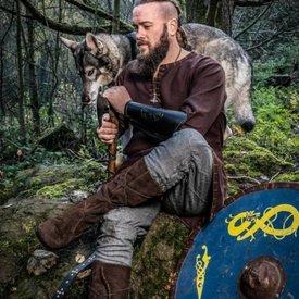 Leonardo Carbone Pantalon Viking Jorvik, gris