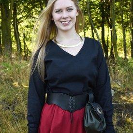 Middeleeuwse blouse Aubrey, zwart