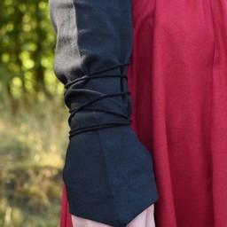 Blusa medieval de Aubrey, negra.