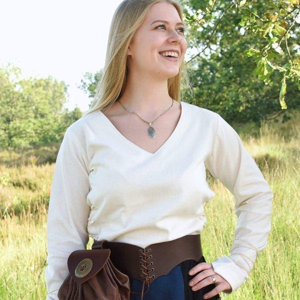 Blusa medieval de Aubrey, natural.