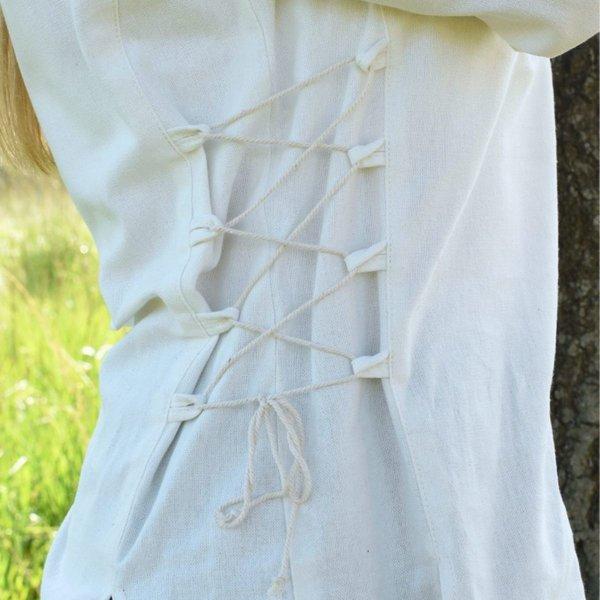Mittelalterliche Bluse Aubrey, natürliche