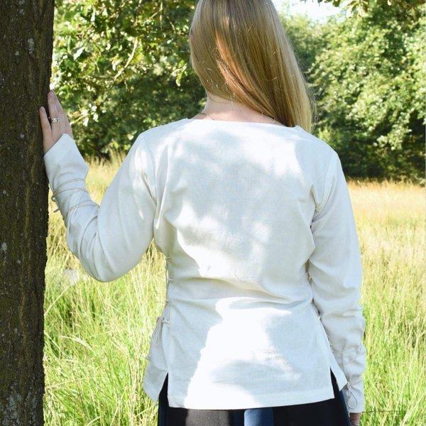 Middeleeuwse blouse Aubrey, naturel
