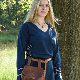 Mittelalterliche Bluse Aubrey, blau