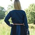Middeleeuwse blouse Aubrey, blauw