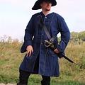 Leonardo Carbone Capa de pirata siglo 17, azul