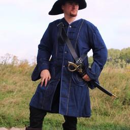 16-talet Buccaneer päls, blå