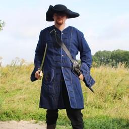 17th century Buccaneer płaszcz, niebieski