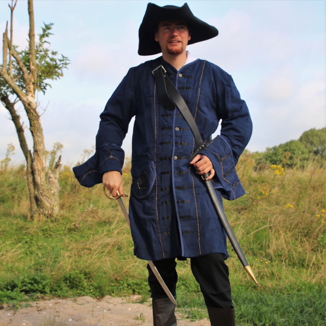 Leonardo Carbone 17. århundrede Pirate pels, blå