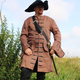 17th century Buccaneer coat, brown