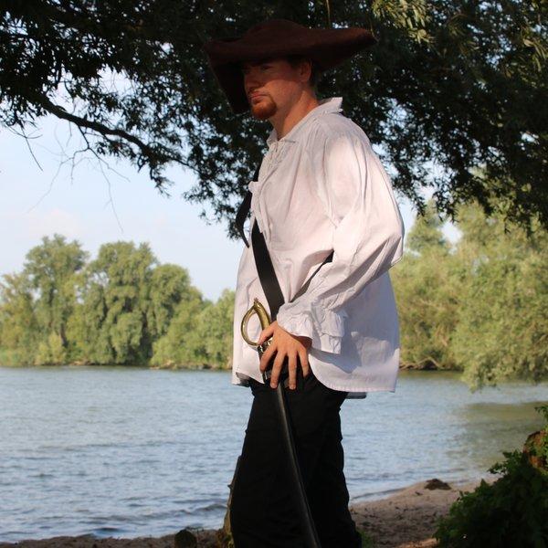 Leonardo Carbone Pirate skjorte, hvid