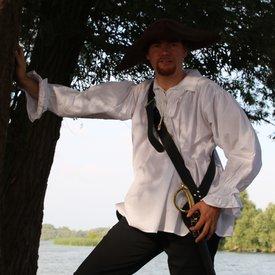 Camisa del pirata, blanco