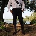 Leonardo Carbone Katoenen broek Alin, zwart