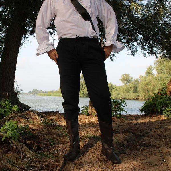 Katoenen broek Alin, zwart