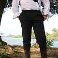 Leonardo Carbone Pantalon en coton Alin, noir