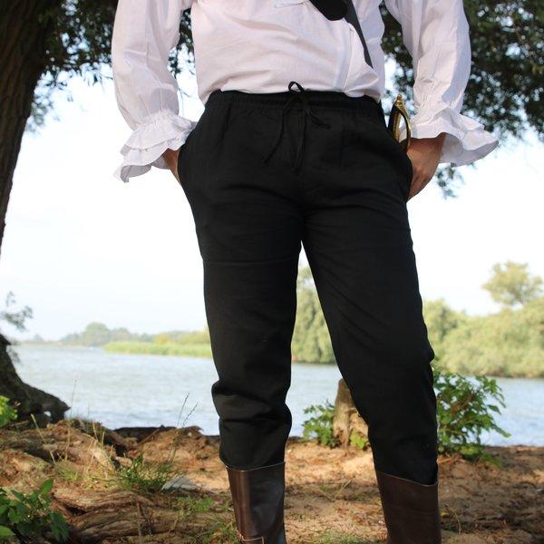 Pantalon en coton Alin, noir