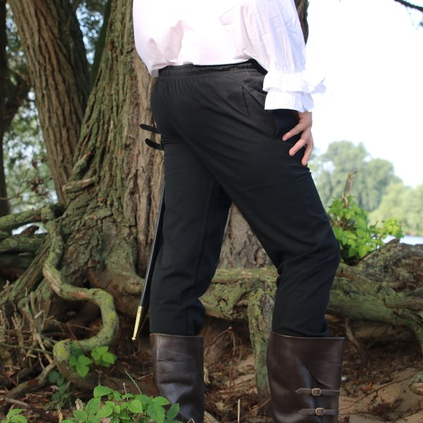 Bomuld bukser Alin, sort