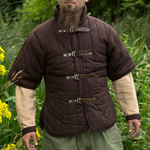 Epic Armoury RFB Short sleeved belt gambeson, brown