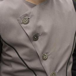 Chaleco victoriano Dorian, gris