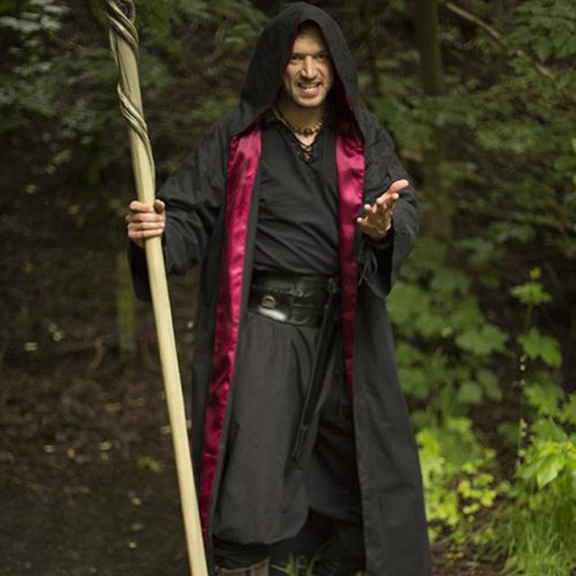 Epic Armoury Túnica de mago, negro-rojo