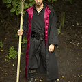 Epic Armoury Abito da mago, nero-rosso