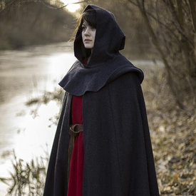Epic Armoury Middeleeuwse mantel met kap Thomas, grijs