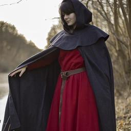 Medieval hooded cloak Thomas, grey