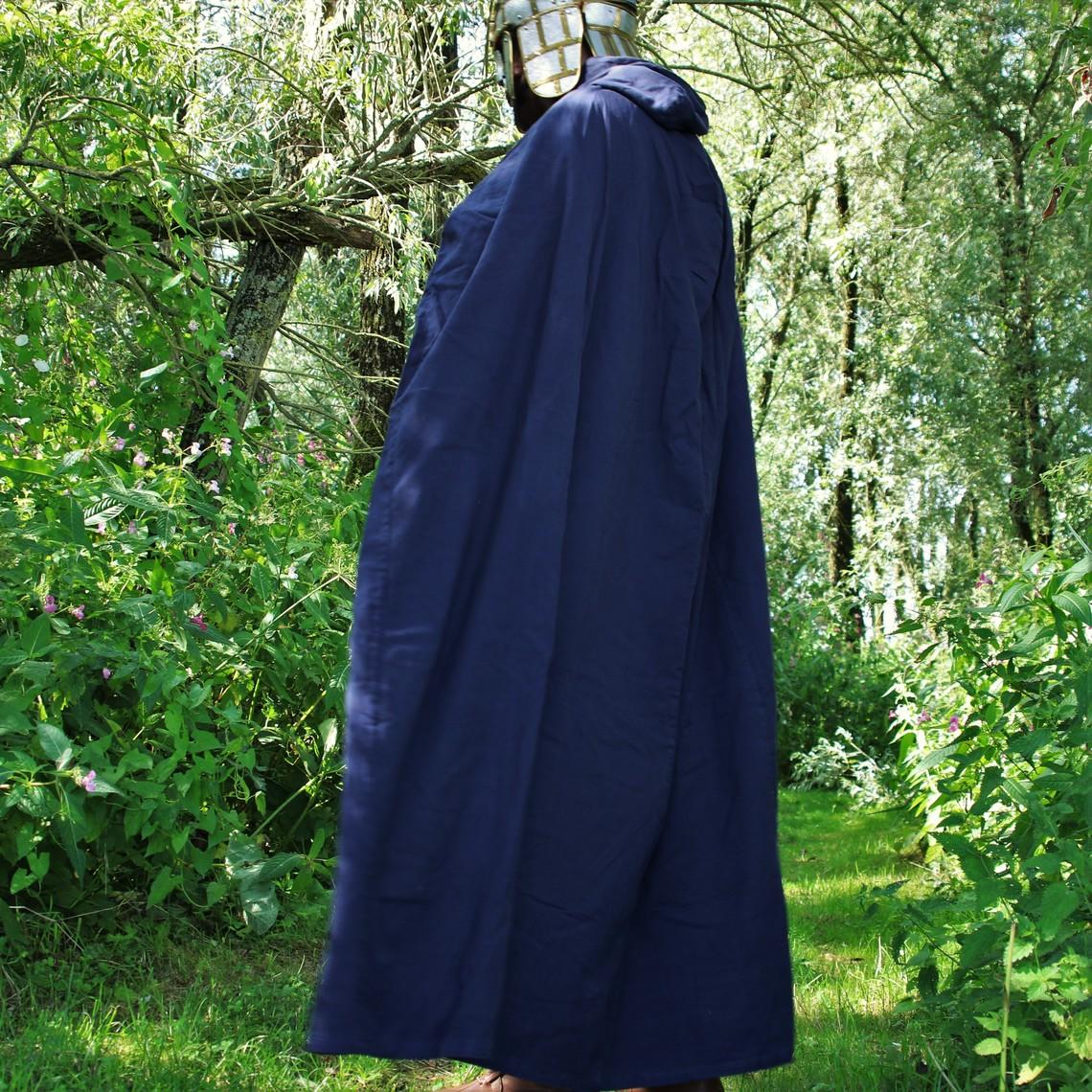 Leonardo Carbone Bawełniany płaszcz, niebieski