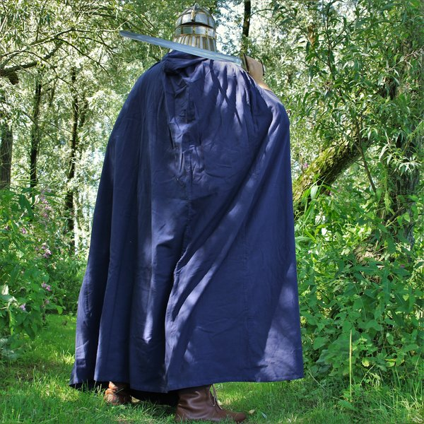 Cotton cloak, blue
